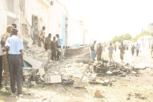 Damage from Shabaab's UNDP attack