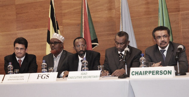 The delegations at Addis agreement