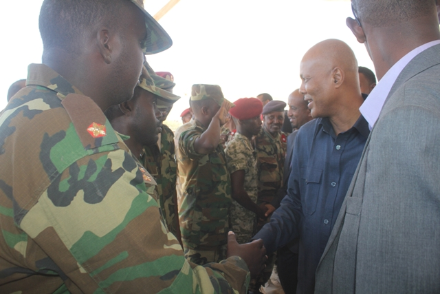 PM Abdiweli Visits Security Forces