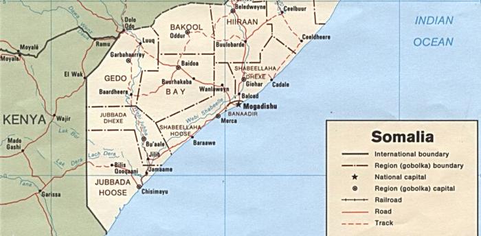 Southern Somalia Map