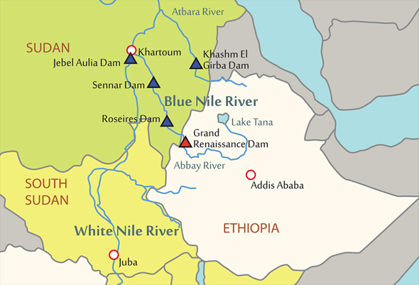 Around The Horn Ethiopia Dams Egypt And SPLA Takes Malakal Before - Nile river map world atlas