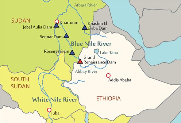 Around The Horn Ethiopia Dams Egypt And SPLA Takes Malakal Before - Map of egypt ethiopia