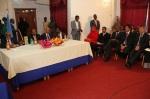Somali govt officials at Baidoa signing