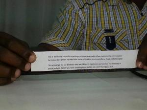 Recent anti-Luo leaflet in Likoni