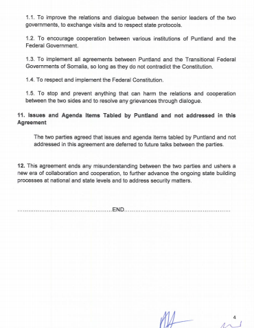 Full Document Cooperation Agreement Between The Somali Government