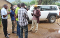 Photo of damaged Kilombero district council car, via TheHabari.com
