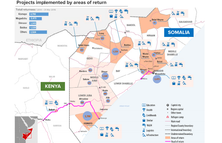 UNHCR Plans For Refugee Returns To Somalia By End Of - Us map somali refugees